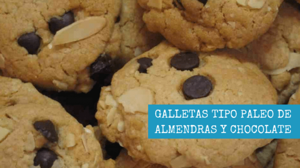 GALLETAS TIPO PALEO DE ALMENDRAS Y CHOCOLATE