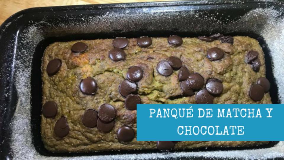 PANQUE DE MATCHA Y CHOCOLATE